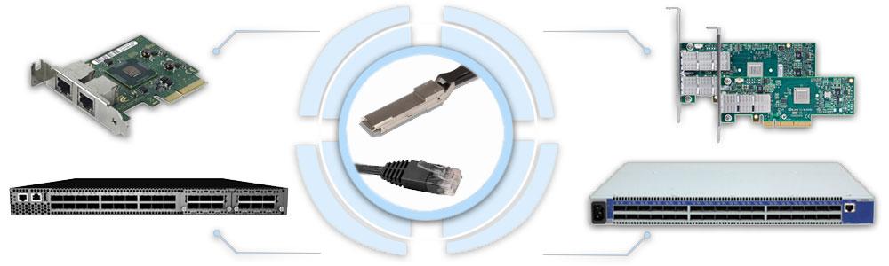 1G / 10G / 25G / 40G / 50G / 56G / 100G / 200G Ethernet