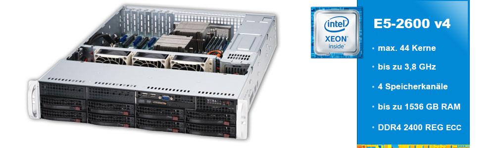 Intel Xeon  E5-2600 (2-Sockel)