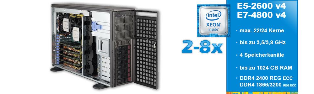 Intel Xeon E5-2600 v4 und E7-4800/8800 v4