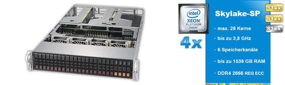 Intel Xeon Scalable (4-Sockel)
